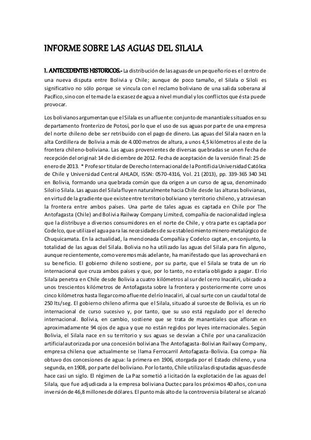 INFORME SOBRE LAS AGUAS DEL SILALA I. ANTECEDENTES HISTORICOS.-Ladistribuciónde lasaguasde unpequeñoríoes el centrode una ...