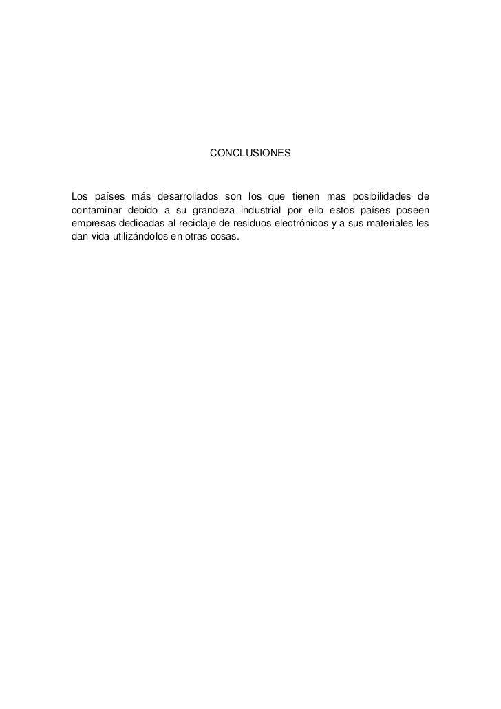 Informe sobre las leyes a nivel latino americano de residuos electronicos