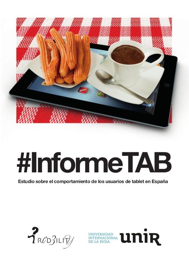 #InformeTAB Estudio sobre el comportamiento de los usuarios de tablet en España