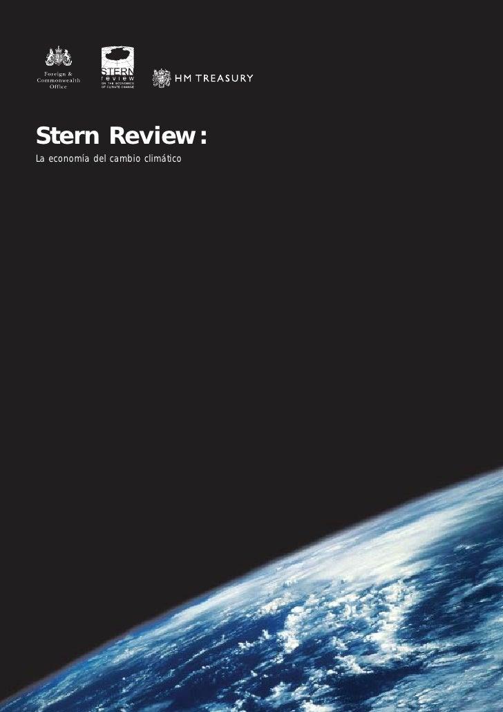 Stern Review: La economía del cambio climático