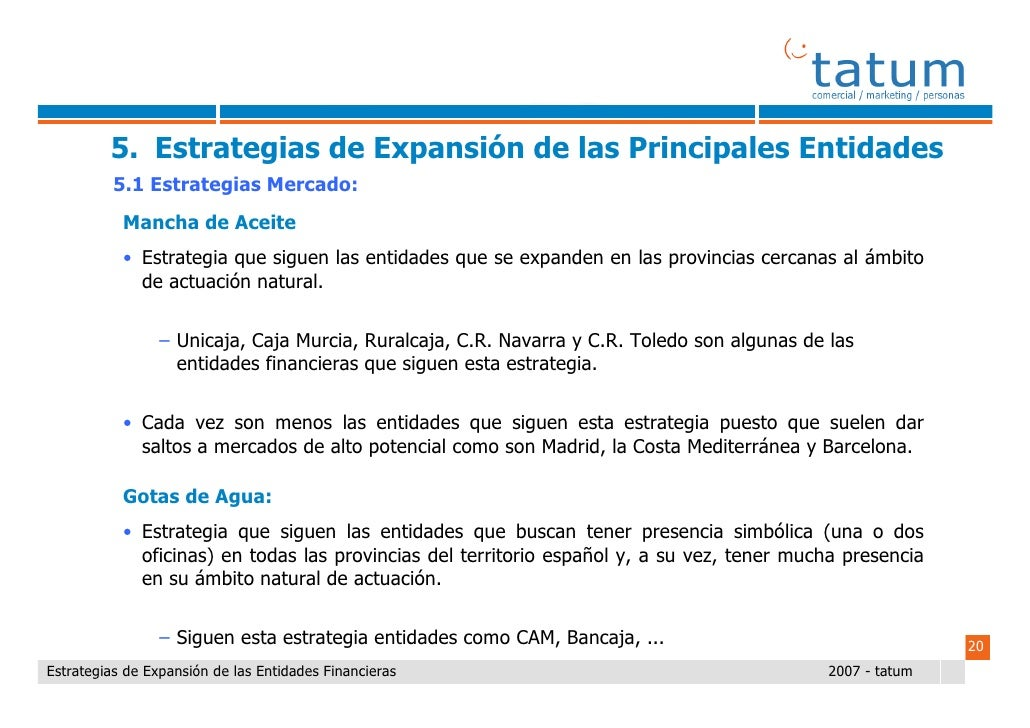 Informe tatum estrategias de expansi n de las entidades for Unicaja barcelona oficinas