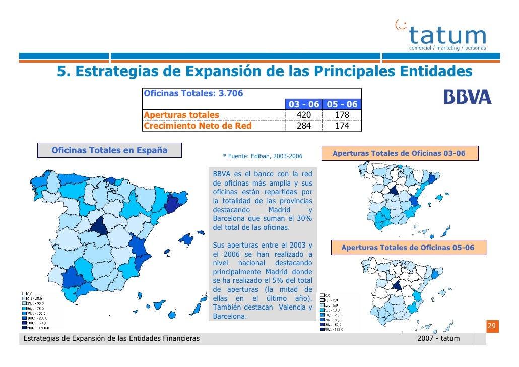 Informe tatum estrategias de expansi n de las entidades for Oficinas caja rural del sur