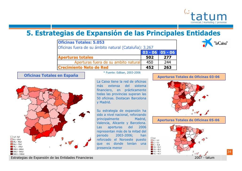 Informe tatum estrategias de expansi n de las entidades for Caixa catalunya oficinas en madrid