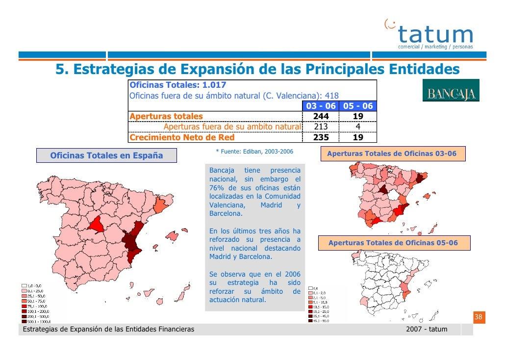 Informe tatum estrategias de expansi n de las entidades - Oficinas ibercaja barcelona ...