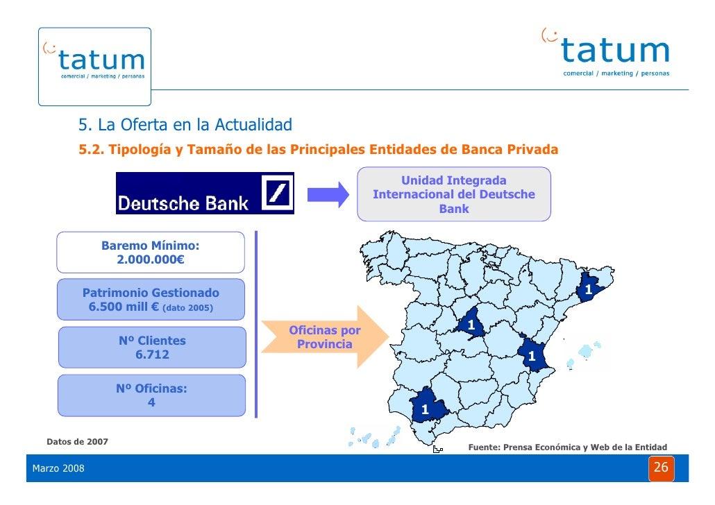 Informe tatum situaci n de la banca privada 2008 for Oficinas de deutsche bank
