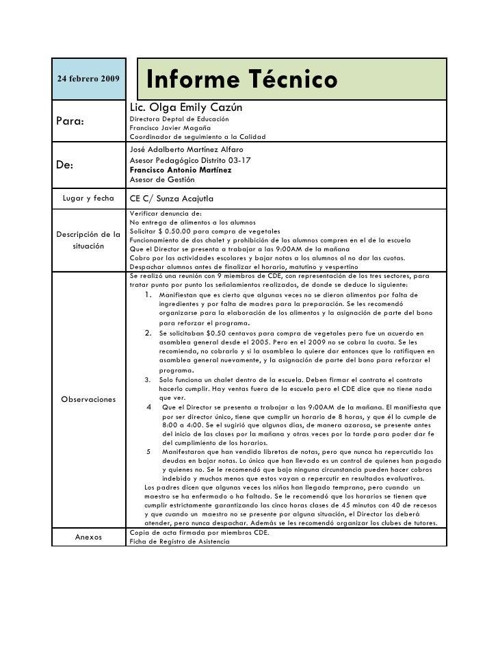 Informe T 233 Cnico Sunza
