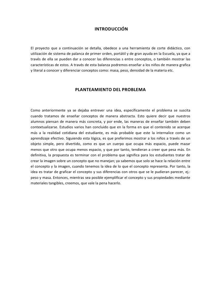 INTRODUCCIÓN   El proyecto que a continuación se detalla, obedece a una herramienta de corte didáctico, con utilización de...