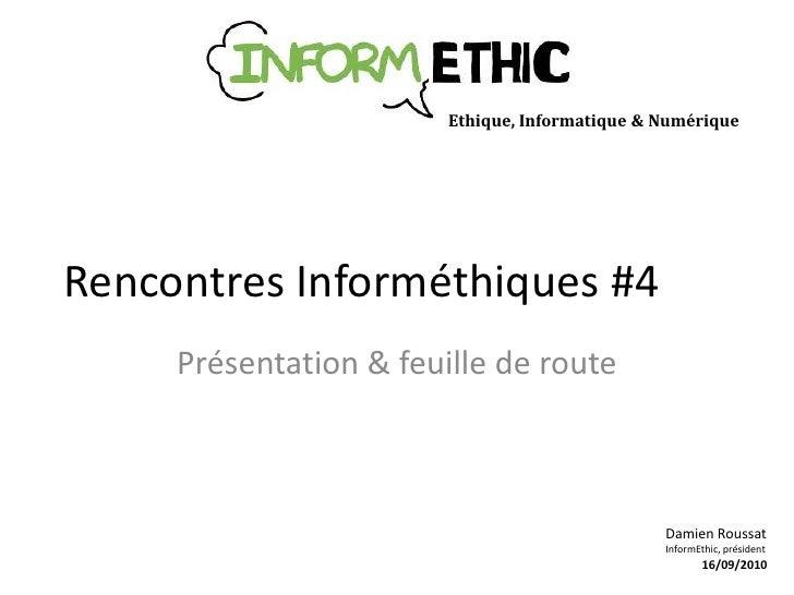 InformEthic - Rencontres Informéthiques #4