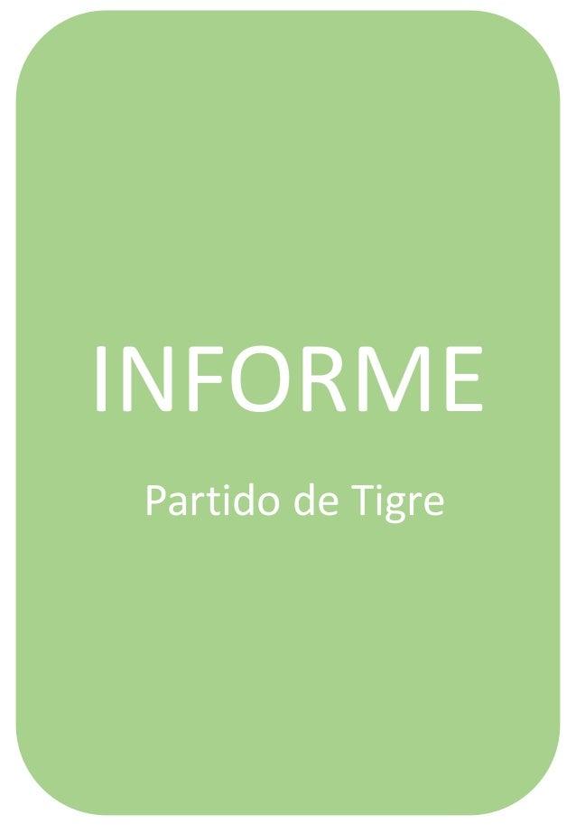 Informe ambiental Tigre: Resumen.