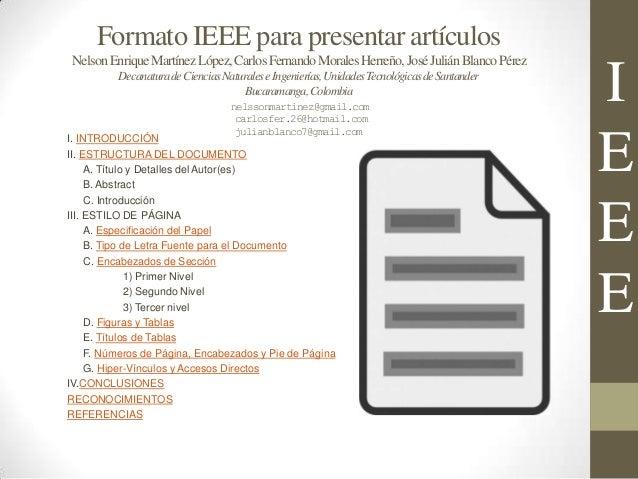 Informe tipo IEEE Slide 2