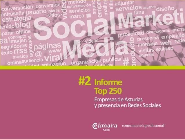 EmpresasdeAsturias ypresenciaenRedesSociales Informe Top250 #2