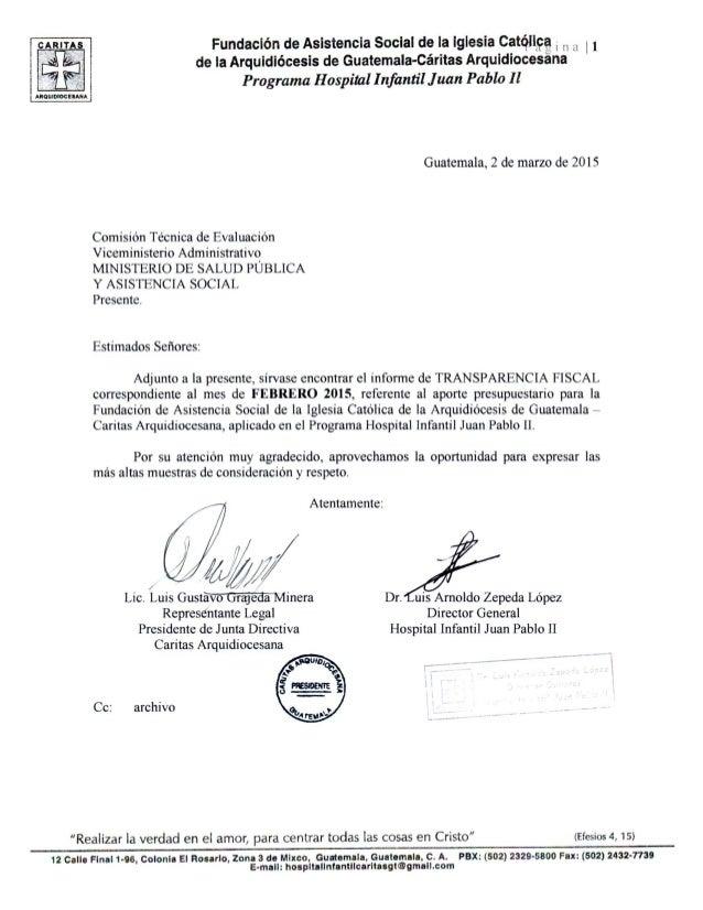 cum Fundación de Asistencia Social de la iglesia Católica ¡ H A ¡ 1 de la Arquidiócesis de Guatemala-Cáritas Arquidíocesan...
