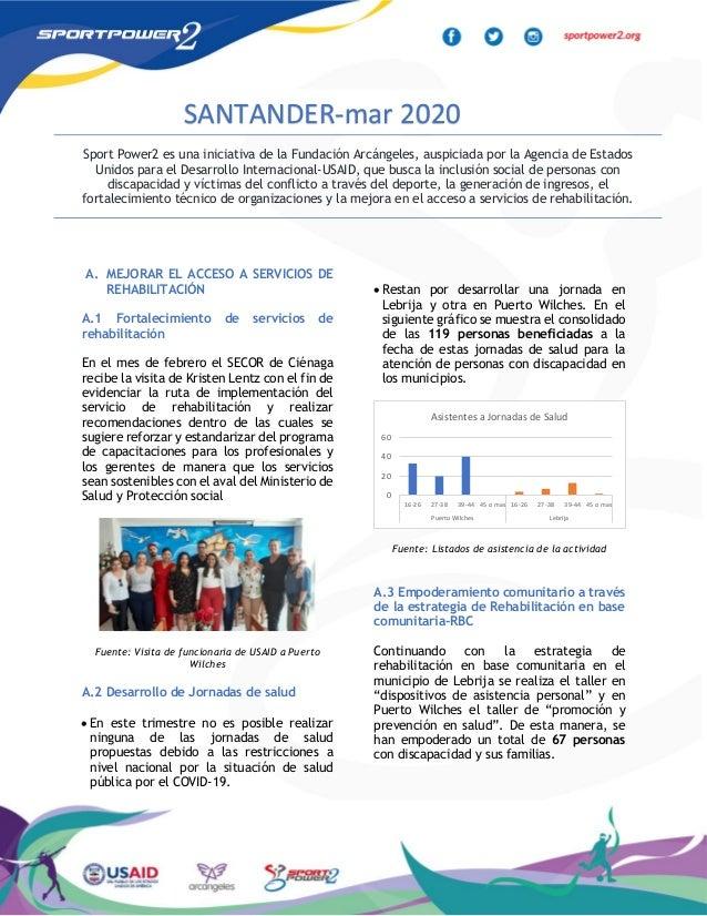 A. MEJORAR EL ACCESO A SERVICIOS DE REHABILITACIÓN A.1 Fortalecimiento de servicios de rehabilitación En el mes de febrero...