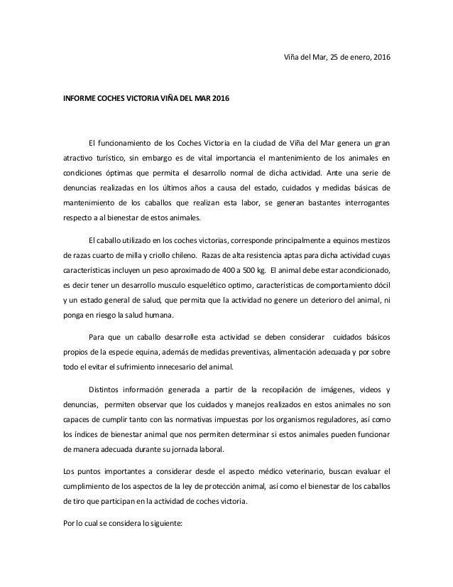 Viña del Mar, 25 de enero, 2016 INFORME COCHES VICTORIA VIÑA DEL MAR 2016 El funcionamiento de los Coches Victoria en la c...
