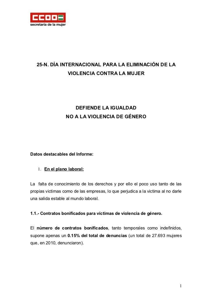 25-N. DÍA INTERNACIONAL PARA LA ELIMINACIÓN DE LA                   VIOLENCIA CONTRA LA MUJER                       DEFIEN...