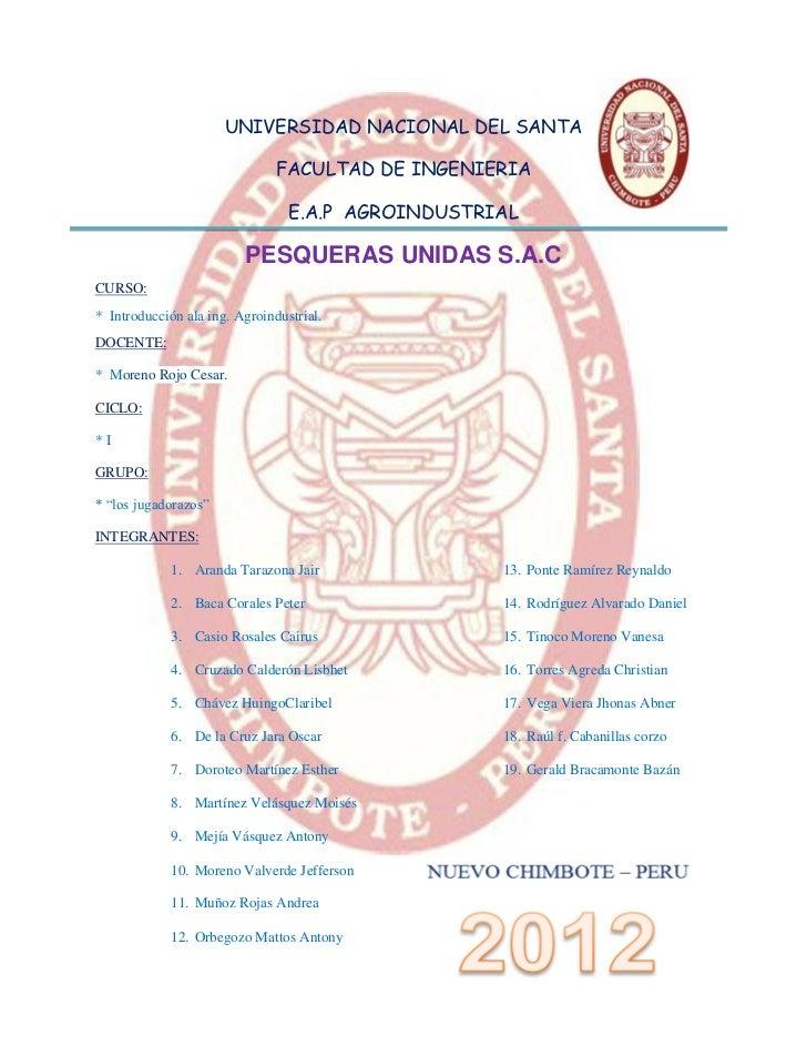 UNIVERSIDAD NACIONAL DEL SANTA                               FACULTAD DE INGENIERIA                                 E.A.P ...
