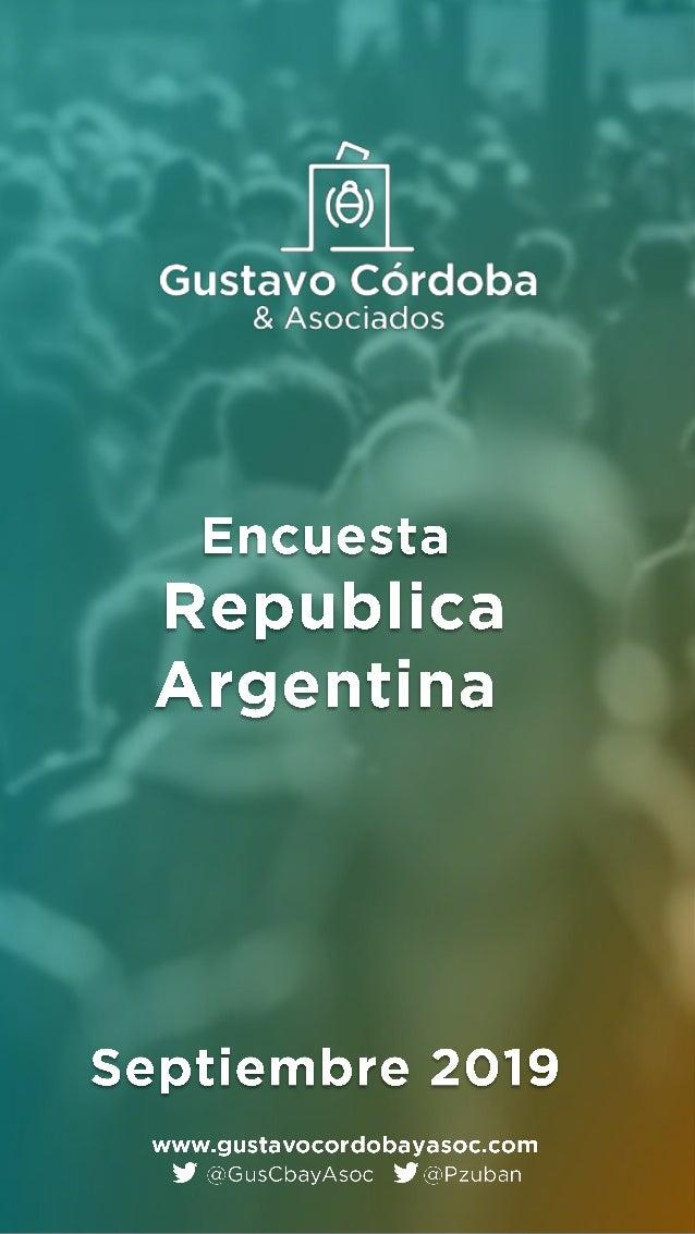 Encuesta Gustavo Córdoba & Asociados - Septiembre2019