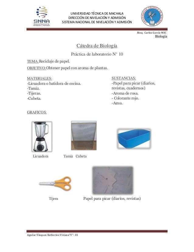 Practica: Papel Reciclado (Informe)