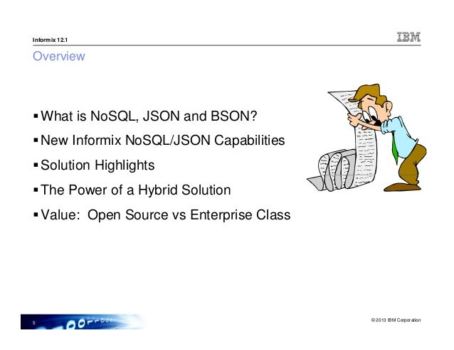 nosql support in informix json storage mongo db api