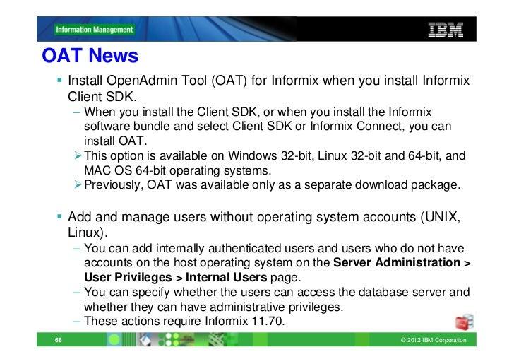 Informix Update New Features 11 70 xC1+