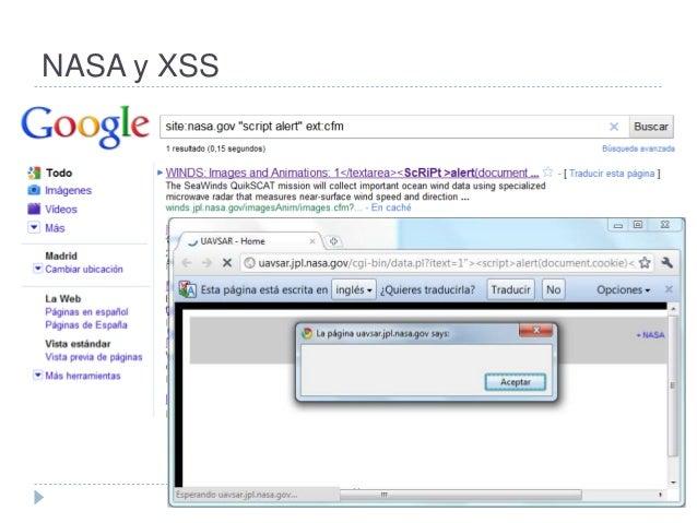 NASA y XSS