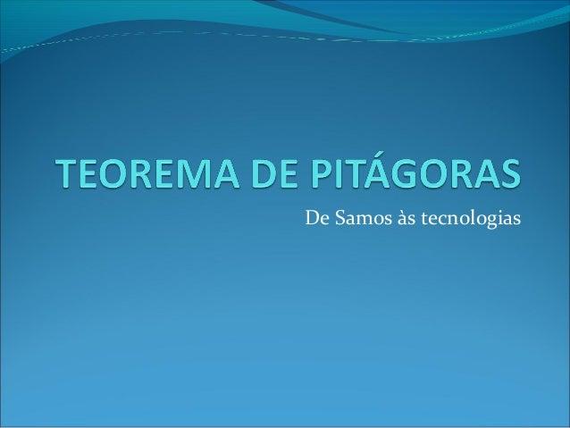 De Samos às tecnologias
