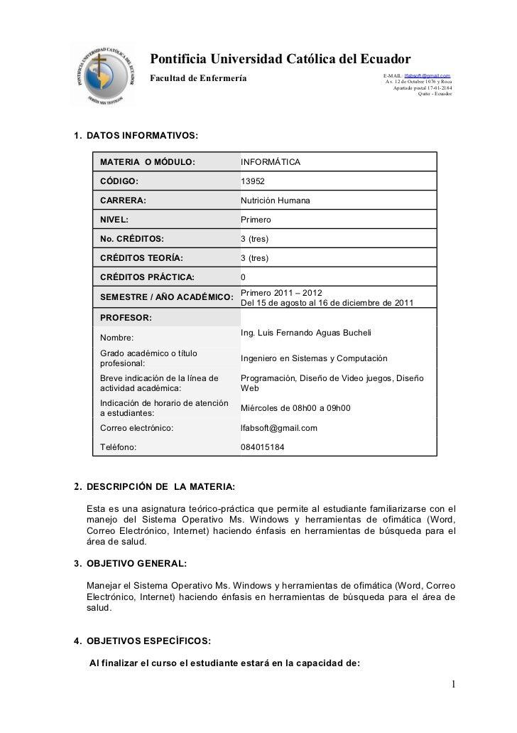 Pontificia Universidad Católica del Ecuador                                                                            E-M...