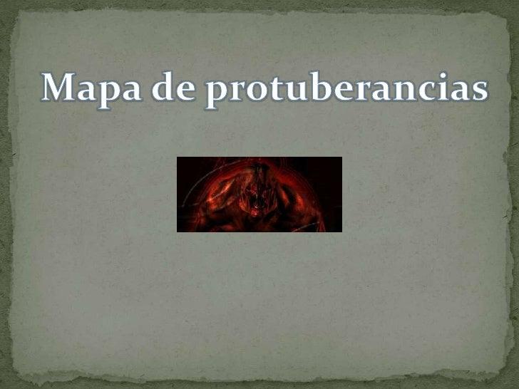 Mapa de protuberancias<br />