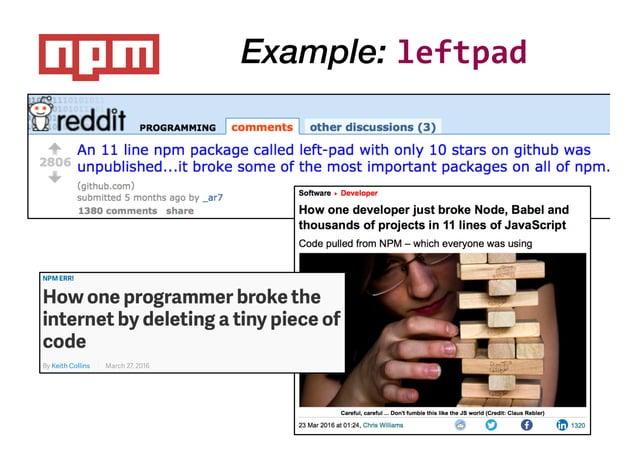 Example: leftpad