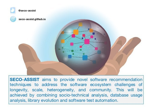 seco-assist.github.io @seco-assist 2018-2021 SECO-ASSIST aims to provide novel software recommendation techniques to addre...