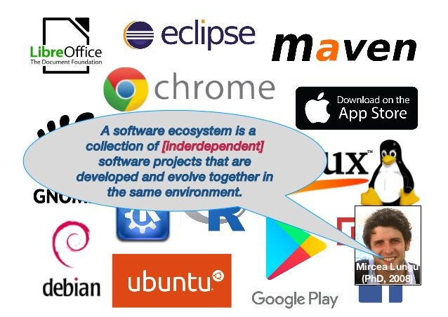 A software ecosystem is a collection of [inderdependent] software projects that are developed and evolve together in the s...