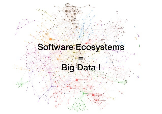 Software Ecosystems = Big Data !