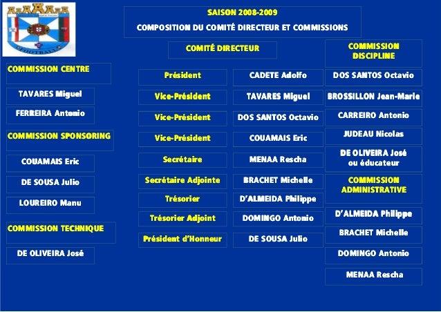 SAISON 2008SAISON 2008SAISON 2008SAISON 2008----2009200920092009 COMPOSITION DU COMITÉ DIRECTEUR ET COMMISSIONSCOMPOSITION...