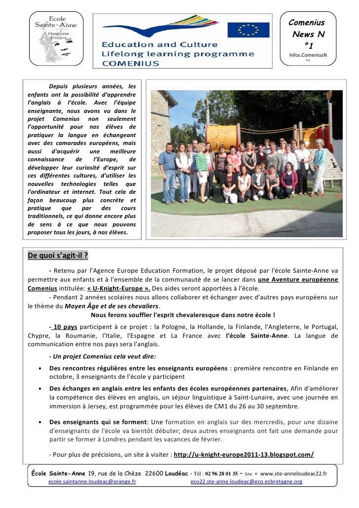 Infos.comenius n°1
