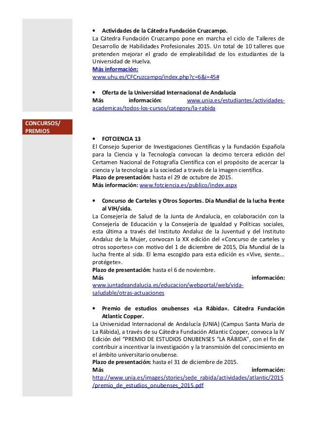 • Actividades de la Cátedra Fundación Cruzcampo. La Cátedra Fundación Cruzcampo pone en marcha el ciclo de Talleres de Des...
