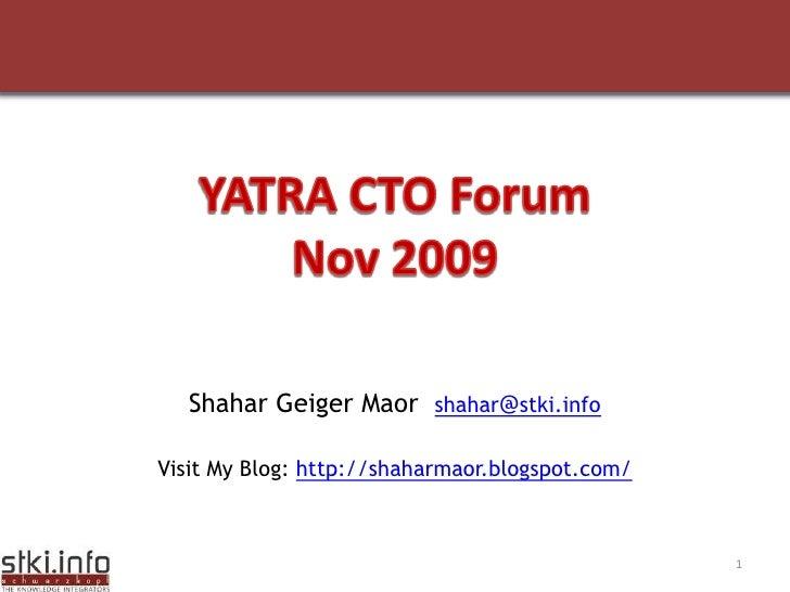 Info Sec   C T O Forum   Nov 2009   V1