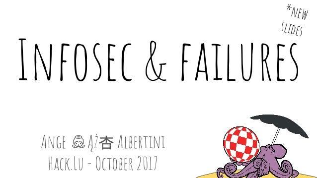 Infosec & failures Ange Ąż杏 Albertini Hack.Lu - October 2017 *new slides