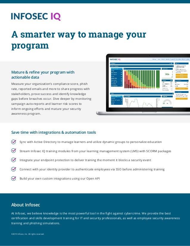 Infosec IQ - Anti-Phishing & Security Awareness Training