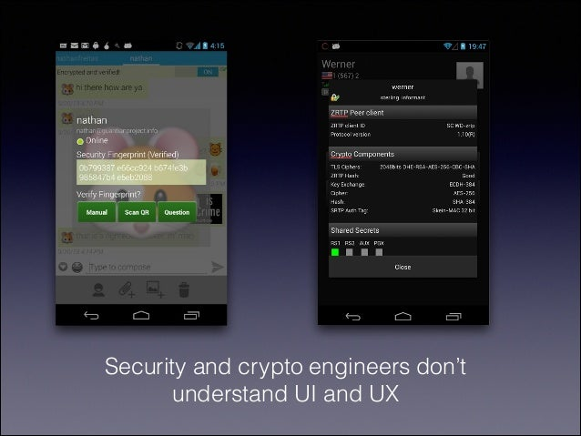 Security and crypto engineers don't understand UI and UX
