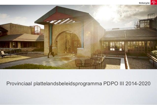 limburg.be  Provinciaal plattelandsbeleidsprogramma PDPO III 2014-2020