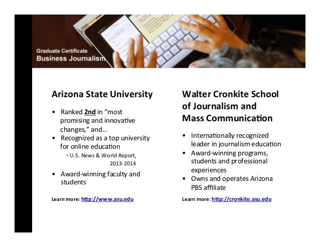 Info Session Online Graduate Certificate In Business Journalism At A