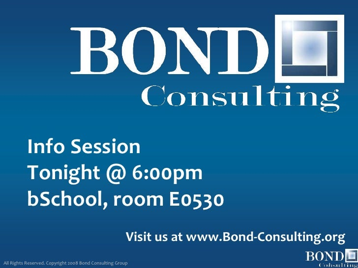 Info Session           Tonight @ 6:00pm           bSchool, room E0530                                                     ...