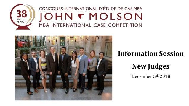 Information Session New Judges December 5th 2018
