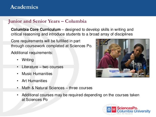 dual ba program between columbia university and sciences po