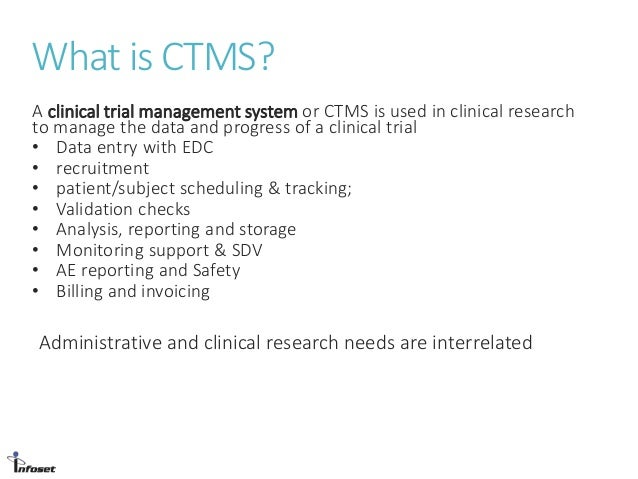 Clinical Trial Management Systems Of Next Next Decade