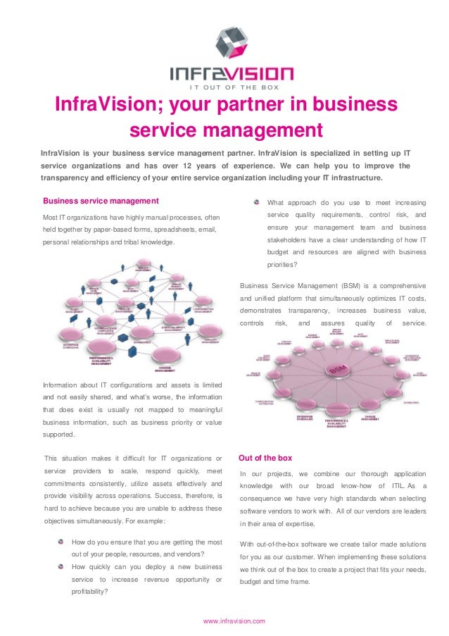 InfraVision; your partner in business            service managementInfraVision is your business service management partner...