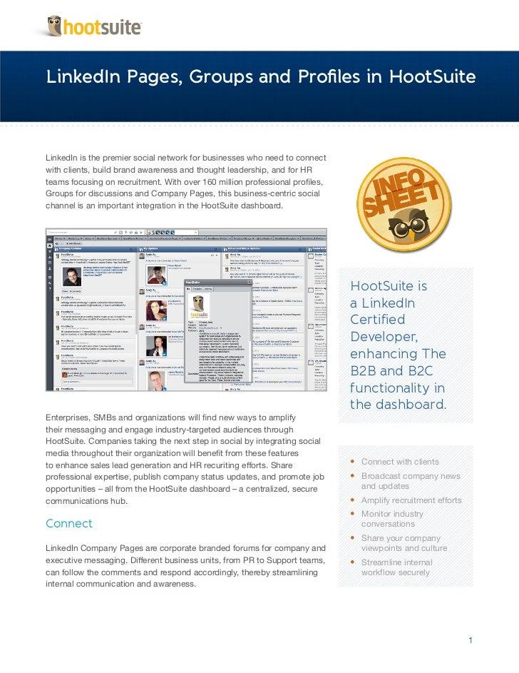 HootSuite Infosheet - Certified LinkedIn Developer