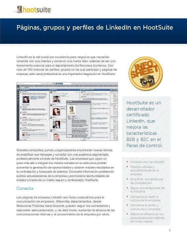 HootSuite Infosheet - Desarrollador Certificado LinkedIn (Español/Spanish)