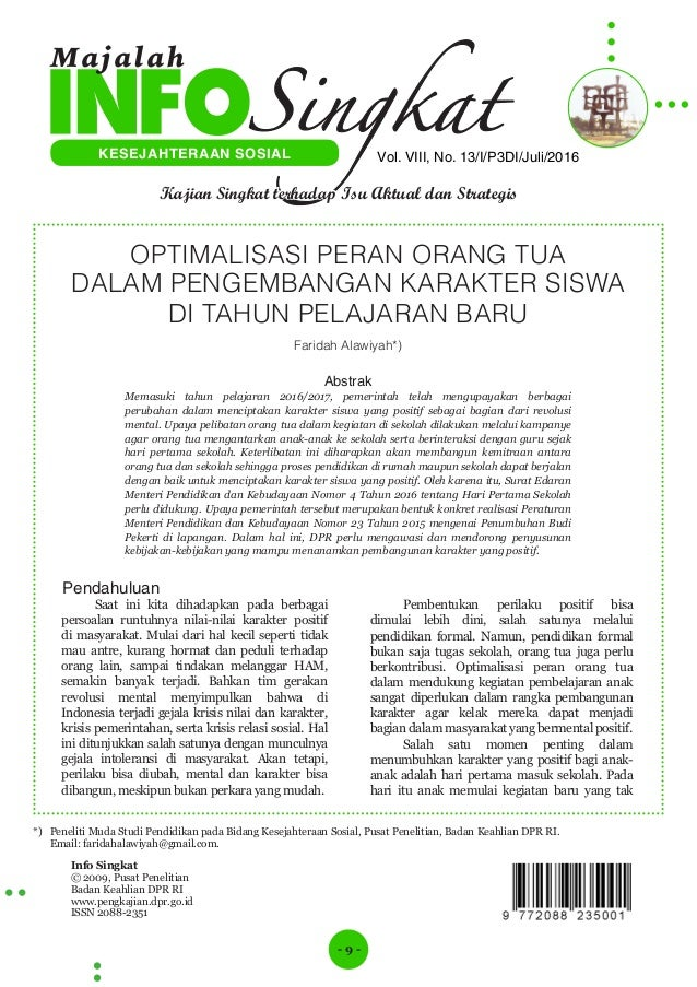 - 9 - Info Singkat © 2009, Pusat Penelitian Badan Keahlian DPR RI www.pengkajian.dpr.go.id ISSN 2088-2351 Vol. VIII, No. 1...