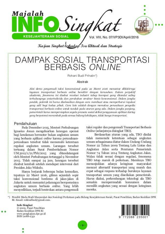 - 9 - Info Singkat © 2009, Pusat Penelitian Badan Keahlian DPR RI www.pengkajian.dpr.go.id ISSN 2088-2351 Vol. VIII, No. 0...